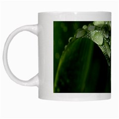 Grass Drops White Coffee Mug