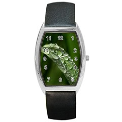 Grass Drops Tonneau Leather Watch