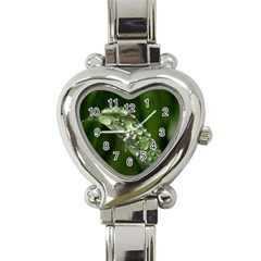 Grass Drops Heart Italian Charm Watch