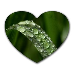 Grass Drops Mouse Pad (Heart)