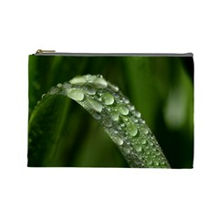 Grass Drops Cosmetic Bag (large)