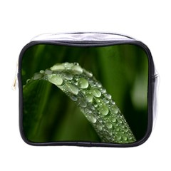 Grass Drops Mini Travel Toiletry Bag (one Side)