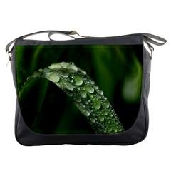 Grass Drops Messenger Bag