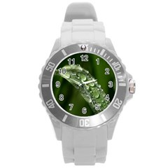 Grass Drops Plastic Sport Watch (large)