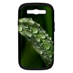 Grass Drops Samsung Galaxy S III Hardshell Case (PC+Silicone)
