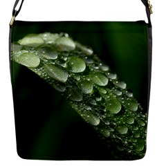 Grass Drops Flap Closure Messenger Bag (Small)