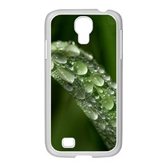 Grass Drops Samsung Galaxy S4 I9500/ I9505 Case (white)