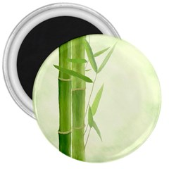 Bamboo 3  Button Magnet