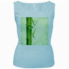 Bamboo Womens  Tank Top (baby Blue)