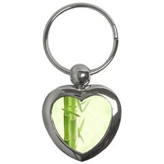 Bamboo Key Chain (heart)