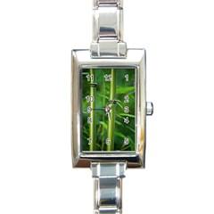 Bamboo Rectangular Italian Charm Watch