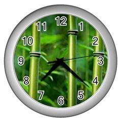 Bamboo Wall Clock (Silver)