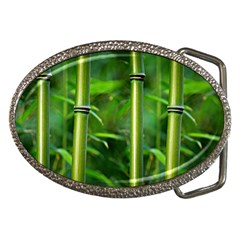 Bamboo Belt Buckle (Oval)