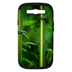 Bamboo Samsung Galaxy S Iii Hardshell Case (pc+silicone)