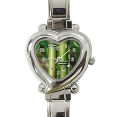 Bamboo Heart Italian Charm Watch