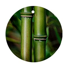Bamboo Round Ornament (Two Sides)