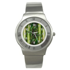 Bamboo Stainless Steel Watch (Slim)
