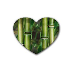 Bamboo Drink Coasters 4 Pack (Heart)