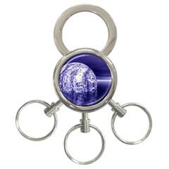 Ball 3-Ring Key Chain