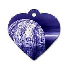 Ball Dog Tag Heart (Two Sided)