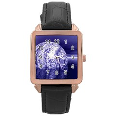 Ball Rose Gold Leather Watch