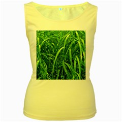 Grass Womens  Tank Top (yellow)