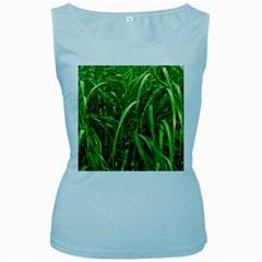 Grass Womens  Tank Top (Baby Blue)