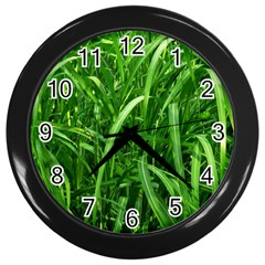 Grass Wall Clock (Black)