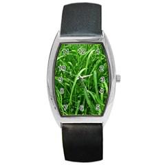 Grass Tonneau Leather Watch