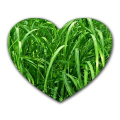 Grass Mouse Pad (Heart)