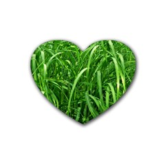 Grass Drink Coasters 4 Pack (Heart)
