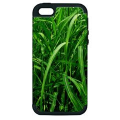 Grass Apple Iphone 5 Hardshell Case (pc+silicone)