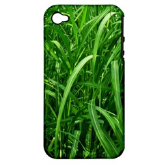 Grass Apple iPhone 4/4S Hardshell Case (PC+Silicone)