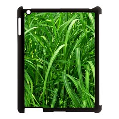 Grass Apple iPad 3/4 Case (Black)