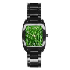 Grass Stainless Steel Barrel Watch