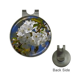 Cherry Blossom Hat Clip with Golf Ball Marker