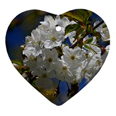Cherry Blossom Heart Ornament (Two Sides)