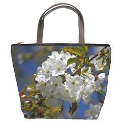 Cherry Blossom Bucket Handbag
