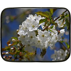Cherry Blossom Mini Fleece Blanket (Two Sided)