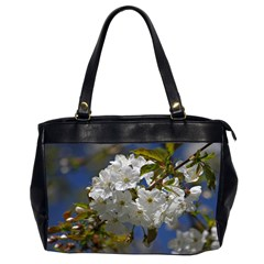 Cherry Blossom Oversize Office Handbag (Two Sides)