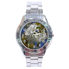 Cherry Blossom Stainless Steel Watch