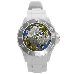 Cherry Blossom Plastic Sport Watch (Large)