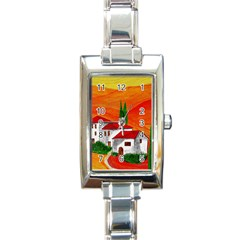 Mediteran Rectangular Italian Charm Watch