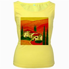 Mediteran Womens  Tank Top (Yellow)