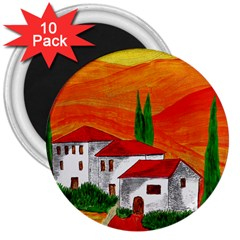 Mediteran 3  Button Magnet (10 pack)