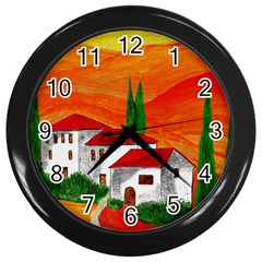 Mediteran Wall Clock (Black)