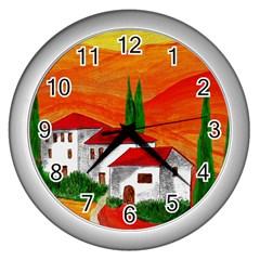 Mediteran Wall Clock (Silver)
