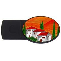 Mediteran 1GB USB Flash Drive (Oval)