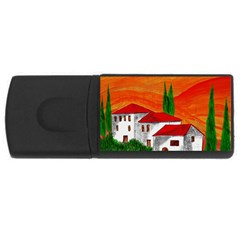 Mediteran 4gb Usb Flash Drive (rectangle)