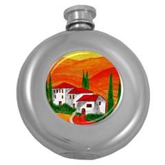 Mediteran Hip Flask (round)